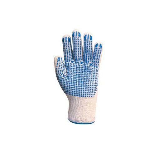 Cérnakesztyű,pöttyös kék mandzsetta 4349