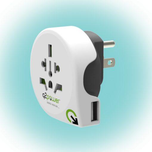 "Q2 power Utazóadapter, ""World to USA USB"" (1.100150)"