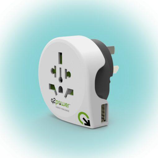 "Q2 power Utazóadapter, ""World to Australia USB"" (1.100170)"