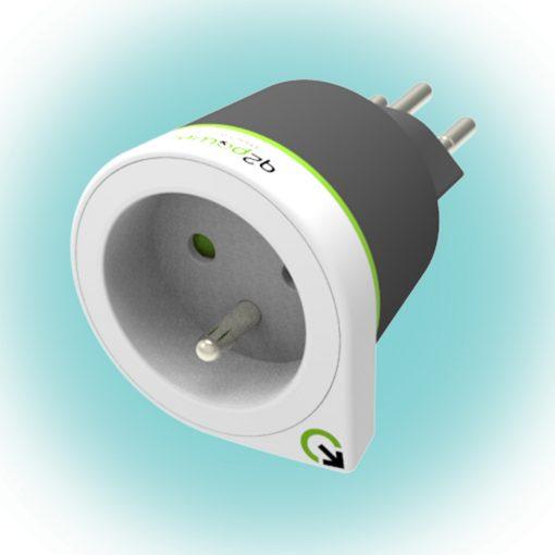 "Q2 power Utazó adapter ""France to Switzerland' (1.200230)"