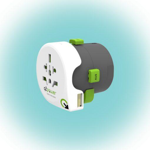 "Q2 power Utazóadapter ""Qdapter USB"" (2.100110)"