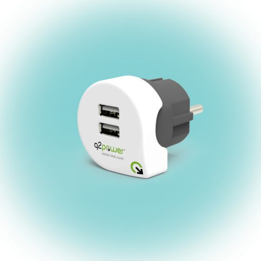 "Q2 power Dupla USB töltő ""Dual USB Charger 2.4A Europe"" (3.300100)"