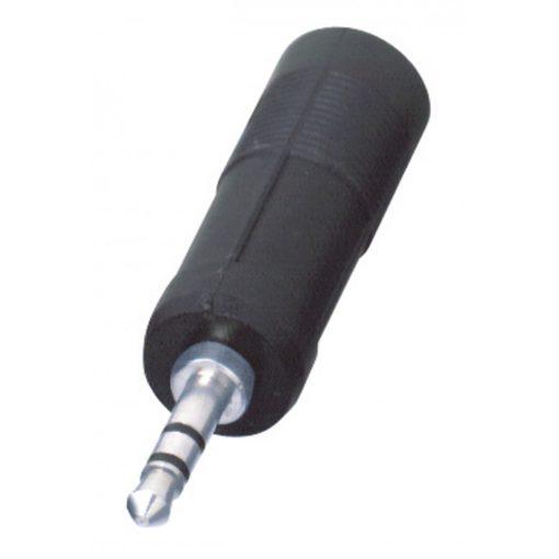 Audió átalakító, 3,5 mm sztereó dugó-2 x 6,3 mm sztereó alj (AC 6)