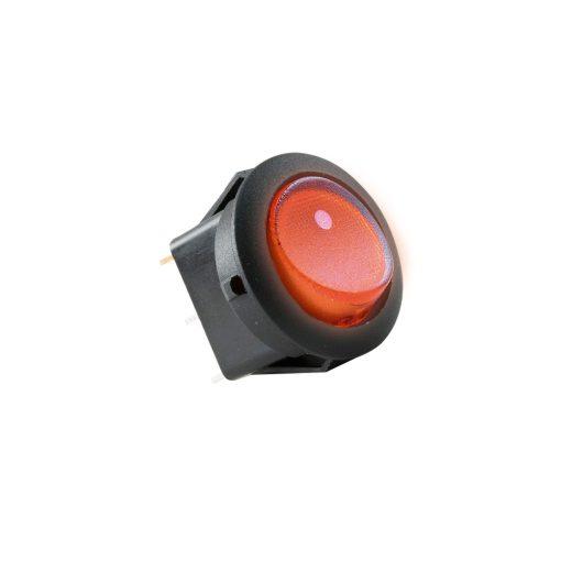 Világítós billenőkapcsoló, 12V, 1ák, piros (AKV 11)