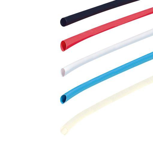 Zsugorcső, 2/1 mm, fekete, 1 m (DRS 2-1/BK)