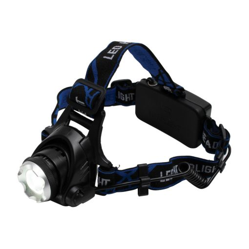 LED-es tölthető fém fejlámpa, ZOOM, 1000 lumen (HLM 5R)
