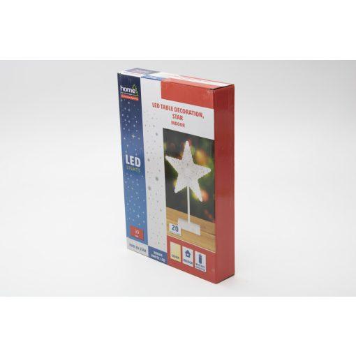 LED-es asztali dísz, csillag, 4,5V (KAD 20 STAR)