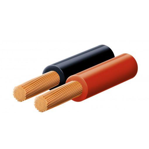 Hangszóróvezeték, piros-fekete, 2x1,5 mm, 100 m/tekercs (KLS 1,5)