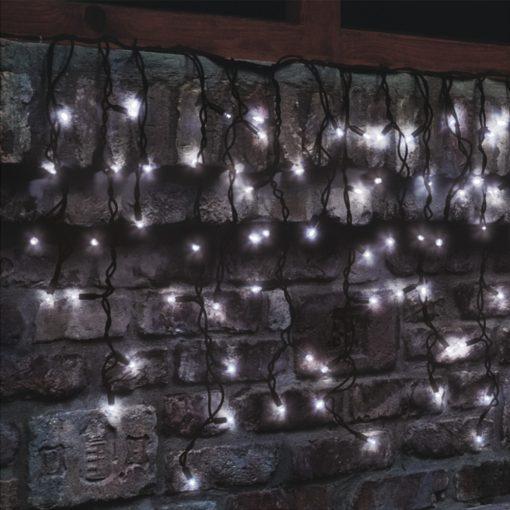 LED-es sorolható jégcsap fényfüggöny (KSF 204/WH)