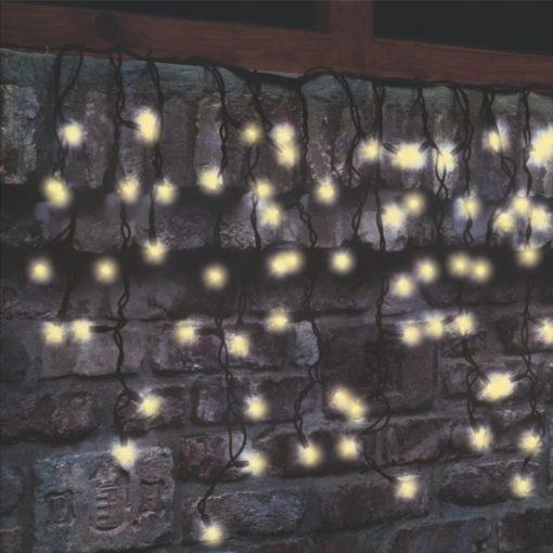 LED-es sorolható jégcsap fényfüggöny (KSF 204/WW)
