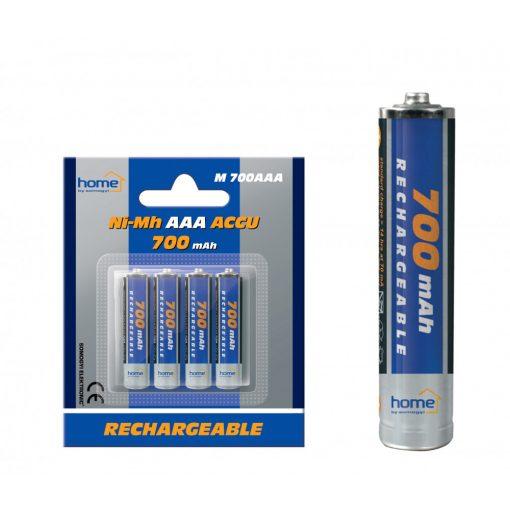 Akkumulator, AAA, 700mA, NI-Mh, 4db/bliszter (M 700AAA)