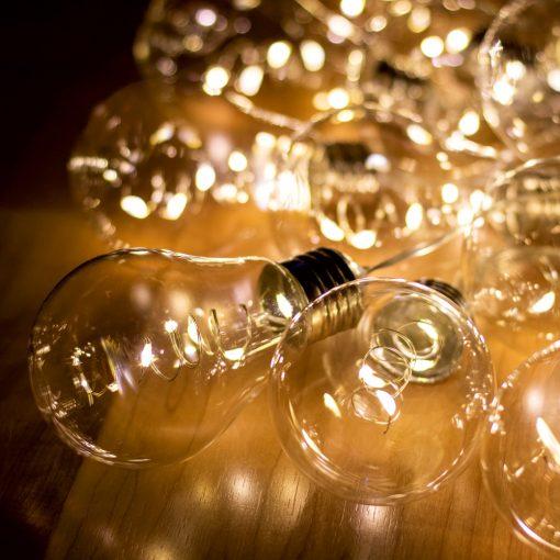 LED-es villanykörte fényfüzér (ML 15 GLOBE)