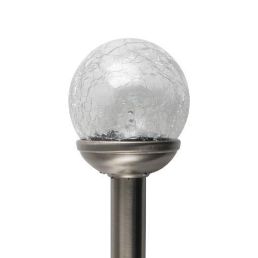 Napelemes kerti lámpa, fém, üveggömb (MX 812)