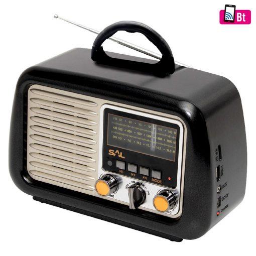 Retro táskarádió és multimédia lejátszó (RRT 2B)