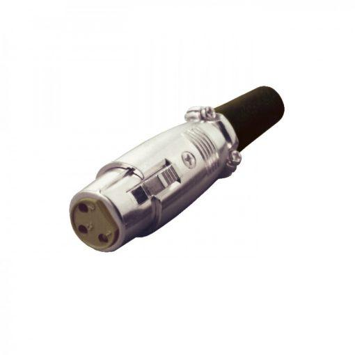 Mikrofon aljzat, lengő, 3 pólusú (S 24)