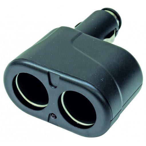 Szivargyújtó elosztó, kettes (SA 022)