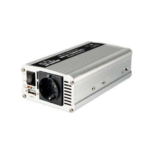Feszültségátalakító, 500/1000W, USB aljzat (SAI 1000USB)