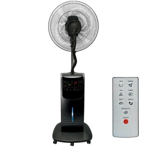Párásító ventilátor, fekete, 40 cm, 90 W (SFM 42/BK)