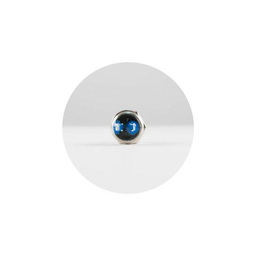 Nyomógomb, 250 V, 1ák, mini, fekete, záró (SP 02/BK)