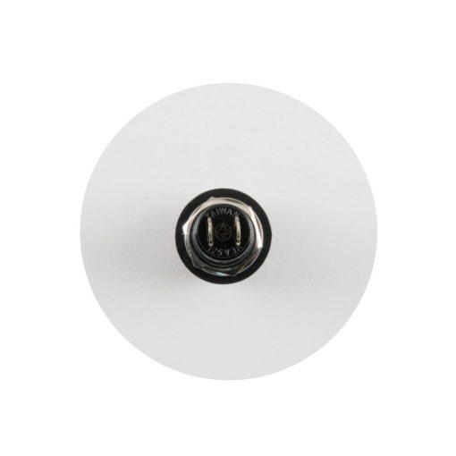Nyomókapcsoló, 250V, 1ák, fekete (ST 10/BK)