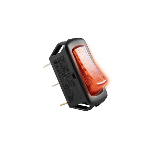 Világítós billenőkapcsoló, 250V, 1ák, piros (STV 03)