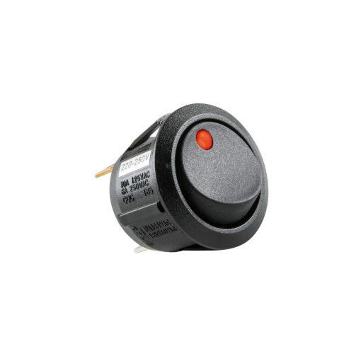 Világítós billenőkapcsoló, 250V, 1ák, piros (STV 11)