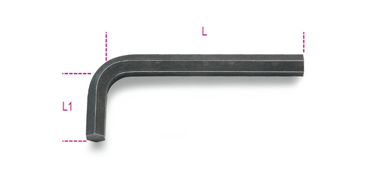 BETA 96N 1,5 Hajlított imbuszkulcs, barnított (BETA 96N/1,5)