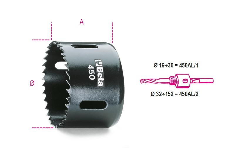 BETA 450 40 Koronafúró HSS, bimetál (BETA 450/40)