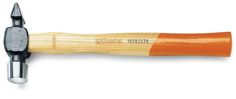 BETA 1378 340 Gömbfejű lakatos kalapács szimmetrikus véggel, amerikai modell, fanyéllel (BETA 1378/340)