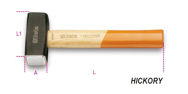 BETA 1380 800 Ráverő kalapács, fanyéllel (BETA 1380/800)
