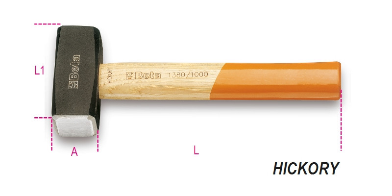 BETA 1380 1500 Ráverő kalapács, fanyéllel (BETA 1380/1500)