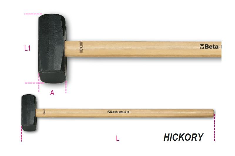 BETA 1381 3000 Hosszú ráverő kalapács Hickory nyéllel (BETA 1381/3000)