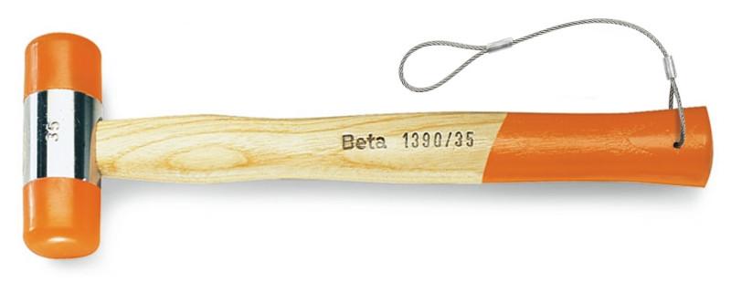 BETA 1390HS Műanyag kalapács, cserélhetõ végekkel, fanyéllel H-SAFE (BETA 1390HS/45)
