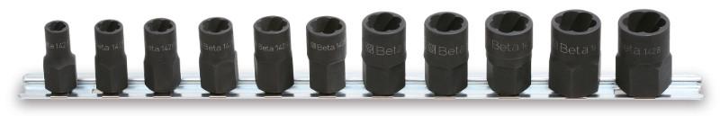 BETA 1428/SB11 11 részes törtanyakiszedő szerszám készlet (1428. cikk) tartón (BETA 1428/SB11)