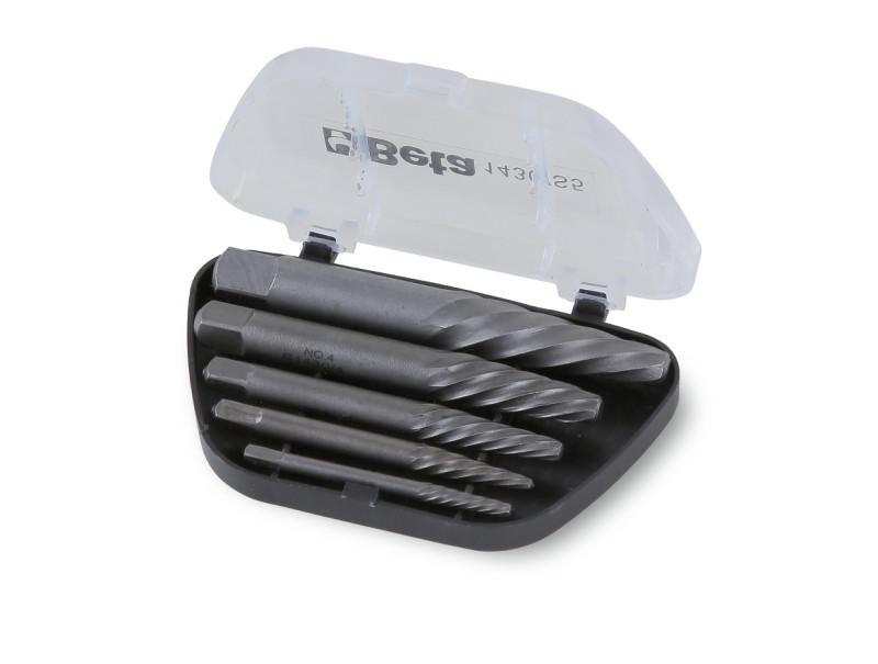 BETA 1430/S5 5 részes törtcsavarkiszedő szerszám készlet ötvözött acélból (1430/.. cikk) kofferban (BETA 1430/S 5)