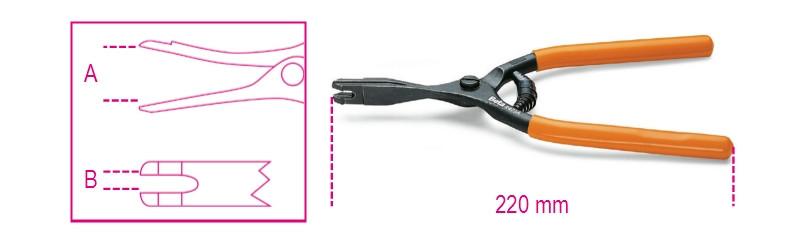 BETA 1471A Kézifékhuzal fogó, barnított, PVC-bevonatú szárral (BETA 1471A)