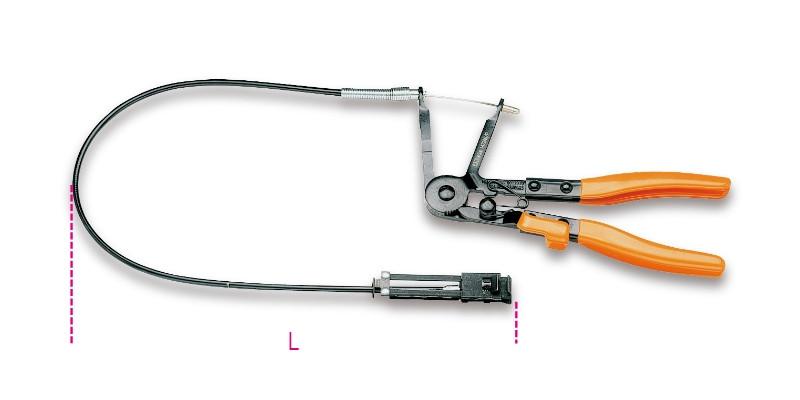 BETA 1472AUP Automata tömlőbillincsfogó hosszított, barnított, PVC-bevonatú zárral (BETA 1472AU/P)
