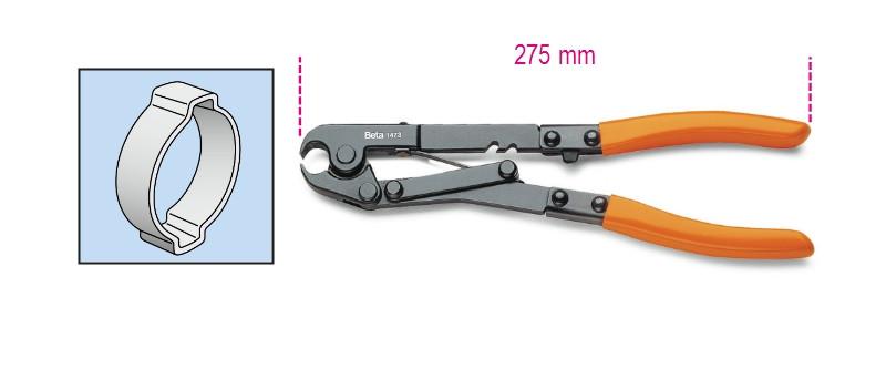 BETA 1473 275 OETIKER® bilincsfogó barnított, PVC-bevonatú szárral (BETA 1473)