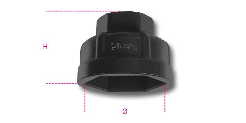 BETA 1493AL/CF 30 Olajszűrőleszedő hatlapfejű dugókulcs (BETA 1493AL CF-30)