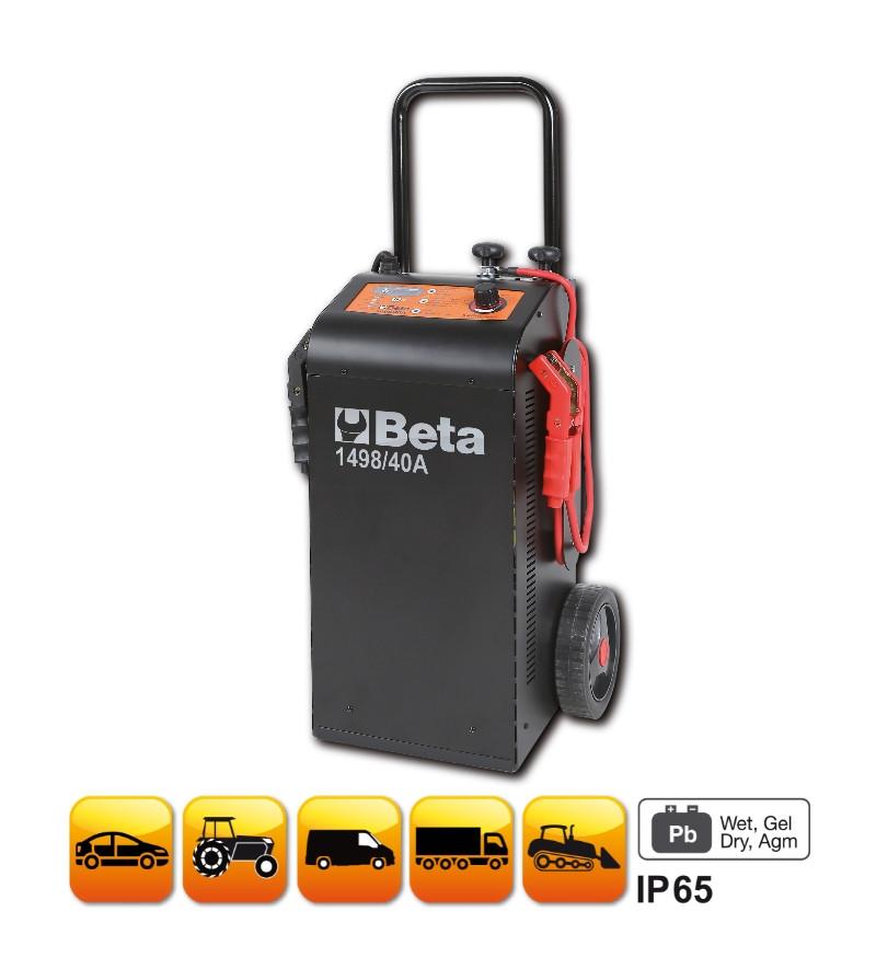 """BETA 1498/40A 12-24 V kocsira szerelt többfunkciós akkumulátortöltő és gyorsindító (BETA 1498/40A"""")"""