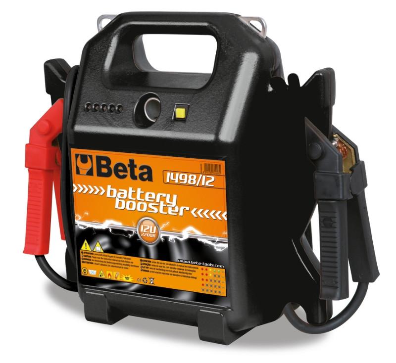 BETA 1498/12 Külső gyorsindító és akkumulátortöltő személygépkocsihoz 12 V, hordozható (BETA 1498/12)