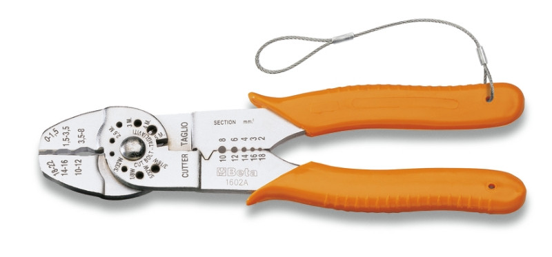 BETA 1602AHS Saruzófogó szigetelt kábelsarukhoz, standard modell, krómozott, műanyag szárral (BETA 1602AHS)