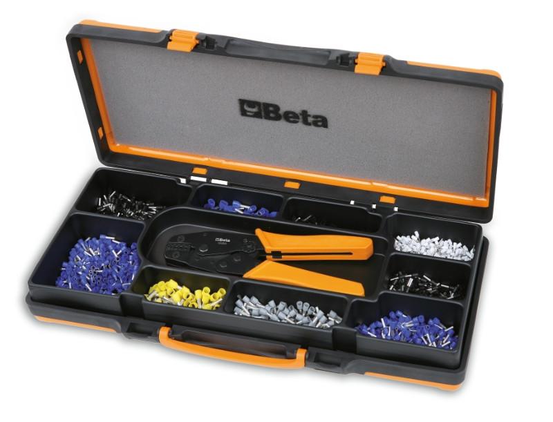 BETA BETA 1606A/C9 Saruzó fogó kábelsarukhoz 450 kábelsaruval 0,5 mm²-6 mm² (BETA 1606A/C9)