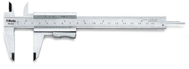 """BETA 1650 150 Tolómérő acélból, tokban, pontosság 0.05 mm (BETA 1650/150"""")"""