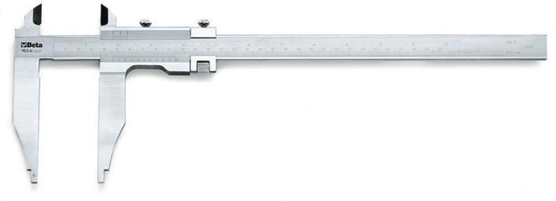BETA 1654 200 Tolómérő rozsdamentes acélból, tokban, pontosság 0.02 mm (BETA 1654/200)