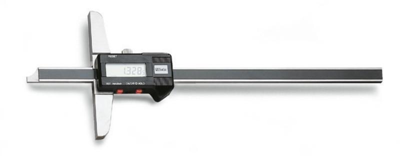 BETA 1657DGT/2 Digitális mélységmérő rozsdamentes acélból, fadobozban, pontosság: 0.01 mm (BETA 1657DGT/2)