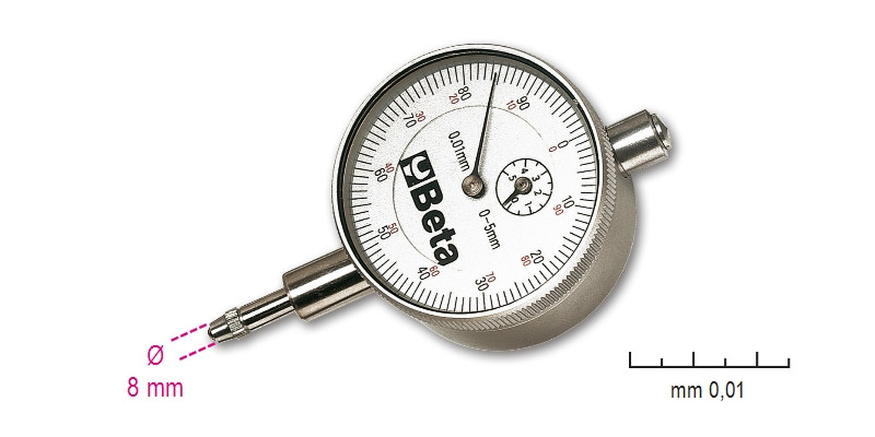 BETA 1662/1 Mérőóra, kemény műanyag dobozban, pontosság 0.01 mm (BETA 1662/1)