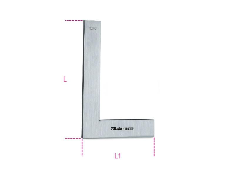 BETA 1666 200 Precíziós derékszög rozsdamentes acélból, köszörült és tükrösített (BETA 1666/200)