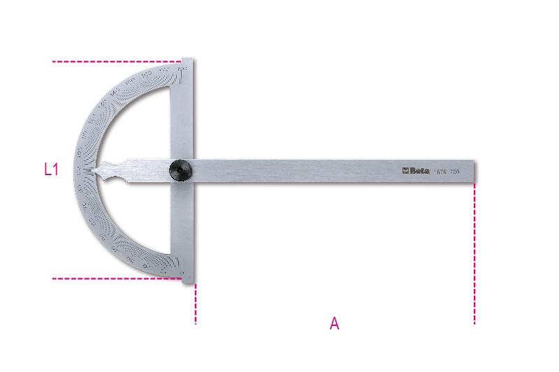 BETA 1676 200 Szögmérő, rozsdamentes acélból (BETA 1676/200)