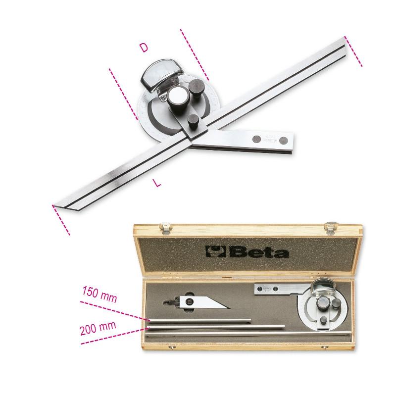 BETA 1678/C3 Dőlésszögmérő, rozsdamentes acélból, kemény dobozban (BETA 1678/C 3)